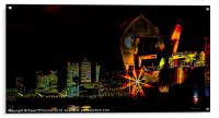 Docklands and Thames Barrier, Acrylic Print