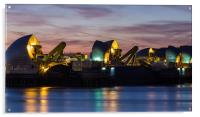 The Thames Barrier, Acrylic Print