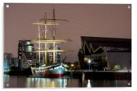 The Tall Ship at Glasgow Harbour, Acrylic Print