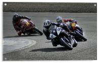 Motorcycle racing, Acrylic Print