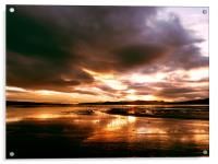 Sunset over the Cromarty Firth, Acrylic Print