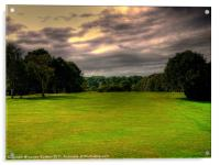 """Its A """"Fairway"""" On A Stormy Day!, Acrylic Print"""