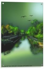 THE OLD CANAL, Acrylic Print