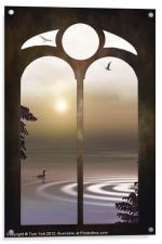 A WINDOW TO THE SUNSET, Acrylic Print