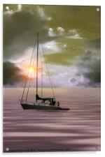 ANCHORED FOR THE NIGHT, Acrylic Print