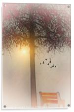 MORNING IN THE PARK, Acrylic Print