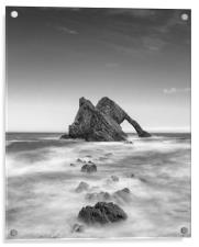 BOW FIDDLE ROCK  SCOTLAND MONO, Acrylic Print