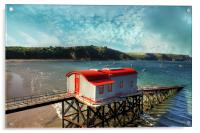 Tenby Lifeboat House, Acrylic Print