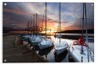 South Queensferry Harbour, Acrylic Print