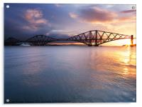 Sunrise over the Forth., Acrylic Print