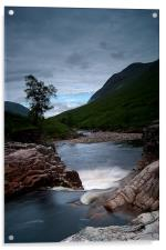 Downword flow of River Etive, Acrylic Print