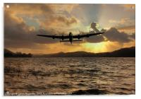 Lancaster and the Lake, Acrylic Print