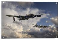 Lancaster and Mosquito Legends, Acrylic Print
