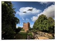 Lancaster over Tattershall, Acrylic Print