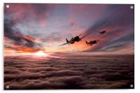 Spitfire Warriors , Acrylic Print
