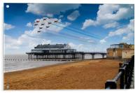 Red Arrows At Cleethorpes, Acrylic Print