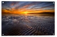 Allonby sunset, Acrylic Print