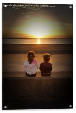 Sunset Girls, Acrylic Print