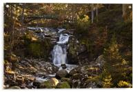 Victoria's Bridge over the Falls of Garbh Allt, Acrylic Print