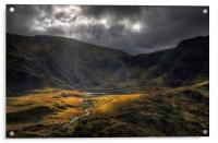 The river from Llyn Idwal, Acrylic Print