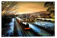 Hawes Sation from the bridge., Acrylic Print