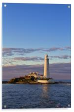 St. Marys Island and Lighthouse, Acrylic Print