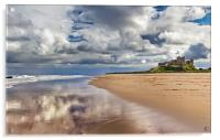 Bamburgh Castle and Beach, Acrylic Print