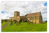 St Aidan's Church, Bamburgh, Acrylic Print