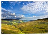 Summer View from Buttertubs, Acrylic Print