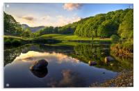 Golden Hour At Elterwater, Acrylic Print