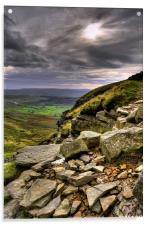 The Descent Of Pen-Y-Ghent, Acrylic Print