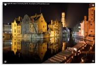 Reflections Of Bruges, Acrylic Print