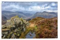 Views From Lingmoor Fell, Acrylic Print
