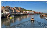 Whitby Harbour Views, Acrylic Print