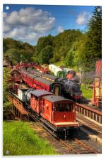 Crowds at Goathland Station, Acrylic Print