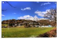 Playing Fields of Coniston, Acrylic Print