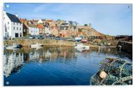 Crail Harbour Morning, Acrylic Print
