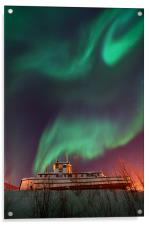 steamboat under northern lights, Acrylic Print