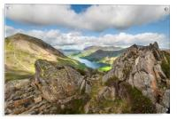 Buttermere viewed from Haystacks Lake District Cum, Acrylic Print