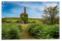 Old mine building , caradon hill  cornwall  , Acrylic Print