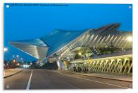 Liege Guillemins Station , Acrylic Print