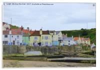 Cod and Lobster Staithes., Acrylic Print