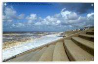 Cleveleys Sea Front. , Acrylic Print