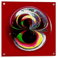 Spherical Paperweight Colour Test, Acrylic Print