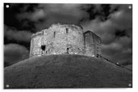 Clifford's Tower in York  historical building , Acrylic Print