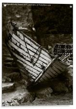 Old Fishing Boat Isle of Wight Canvases & Prints, Acrylic Print