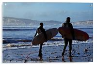 Surfing Isle of Wight Canvases & Prints, Acrylic Print
