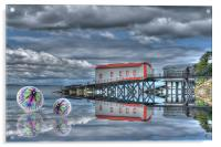 Lifeboat House and Cones, Acrylic Print