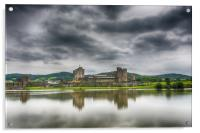 Caerphilly Castle North View 1, Acrylic Print