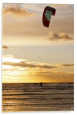 Kitesurfing to the Sun, Acrylic Print